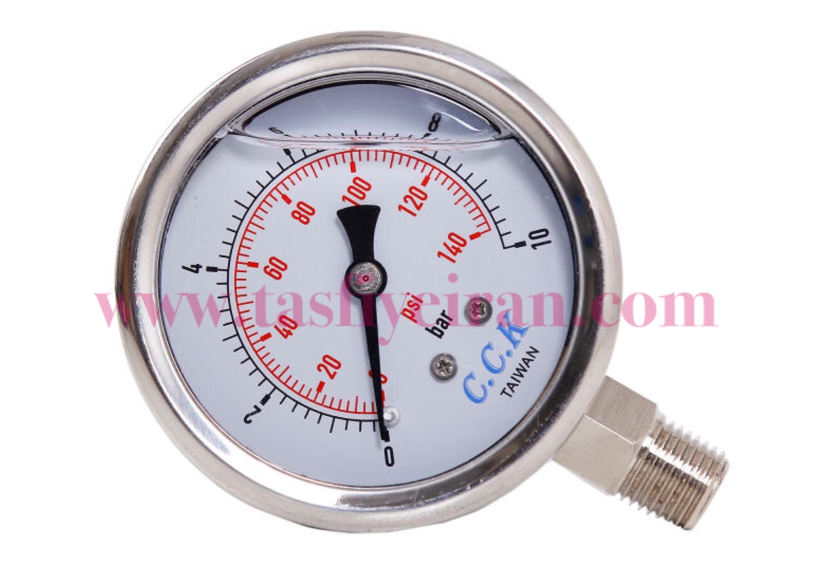 گیج فشار روغنی دستگاه تصفیه آب